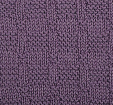Checkered Knit and Purl Stitch Variation
