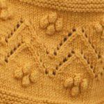 Chevron and Bobbles Knitting Stitch