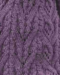 Continuous Cable Arches Knitting Stitch