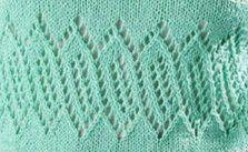 Vs in Brackets Lace Panel Stitch Free Knit - Knitting Kingdom