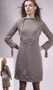 Elegant Cables Dress Knitting Pattern