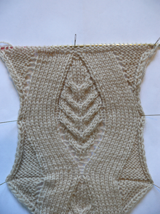 Flame Shaped Cable Knitting Stitch
