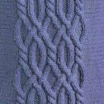 Intricate Cable Knitting Panel Free Stitch