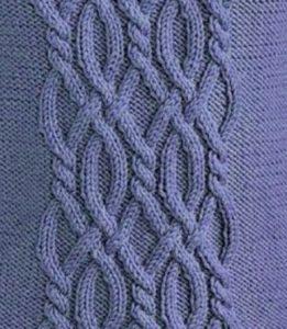 Intricate Cable Knitting Panel Free Stitch