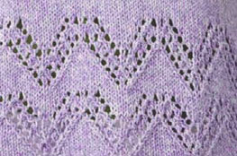 Lace Chevron Knitting Stitch