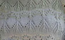 Lace Peaks Knitting Stitch