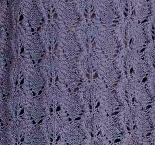 Leafy Knit Stitch Surrounded by a Cable