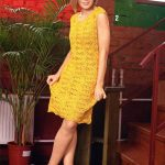 Little Yellow Lace Dress Knitting Pattern
