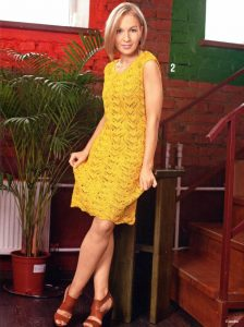 Little Yellow Lace Dress Knitting Pattern