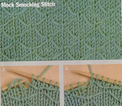 Mock Smoking Stitch Knit Pattern