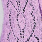 Shield Lace Panel Knitting Stitch