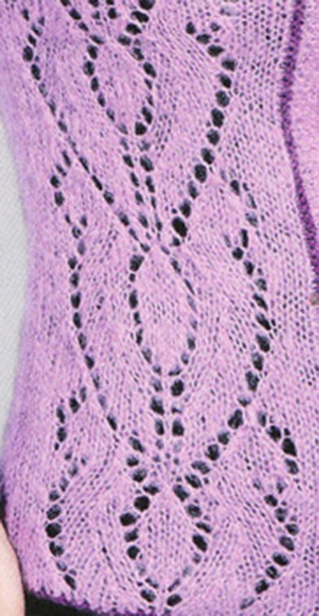 Shield Lace Panel Knitting Stitch