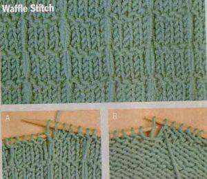 Waffle Stitch Knitting Pattern