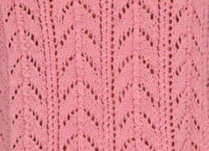 Arched Lace Knitting Stitch Idea and Chart