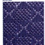 Eyelet Lace Diamond Stitch Free Knitting