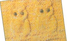 Knit Cable Owl Pattern to Knit Chart