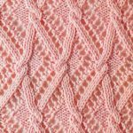 Cables Over Lace Zig Zags Free Knitting Stitch