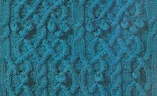 Complex Bobble and Cable Knitting Stitch