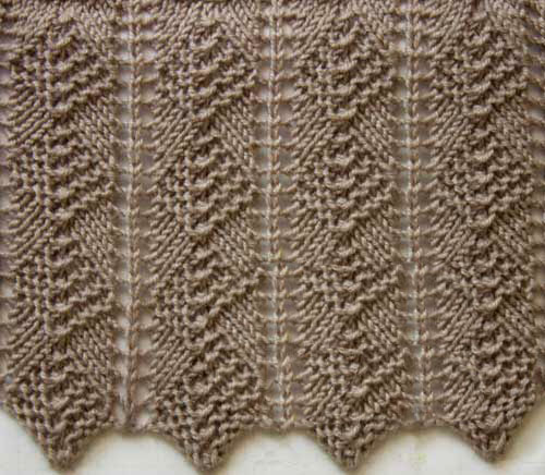 Fantasy Knitting Stitch Diamond Ripple