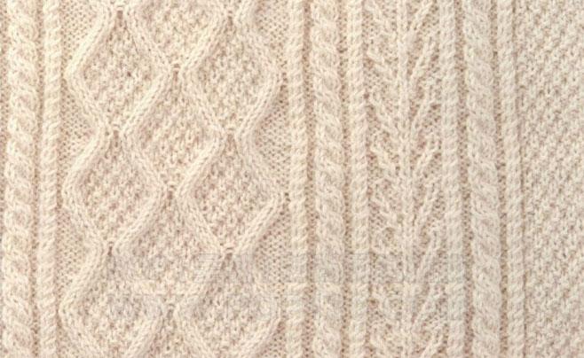 Japanese Cable Panel Knitting Stitch Chart