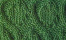 Leaves and Snakes Free Knitting Stitch