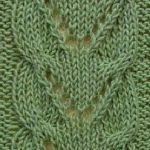 V's in Brackets Lace Panel Stitch Free Knit