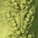 Bobble in a V Shape Knitting Stitch Panel