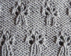 Bouquet Lace Knitting Stitch