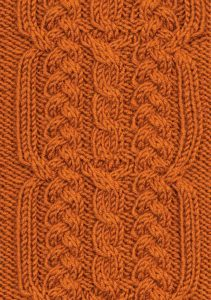 Braid and Cable Panel Free Knit Stitch