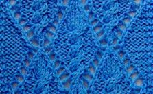 Cable Within a Diamond Lace Knitting Stitch