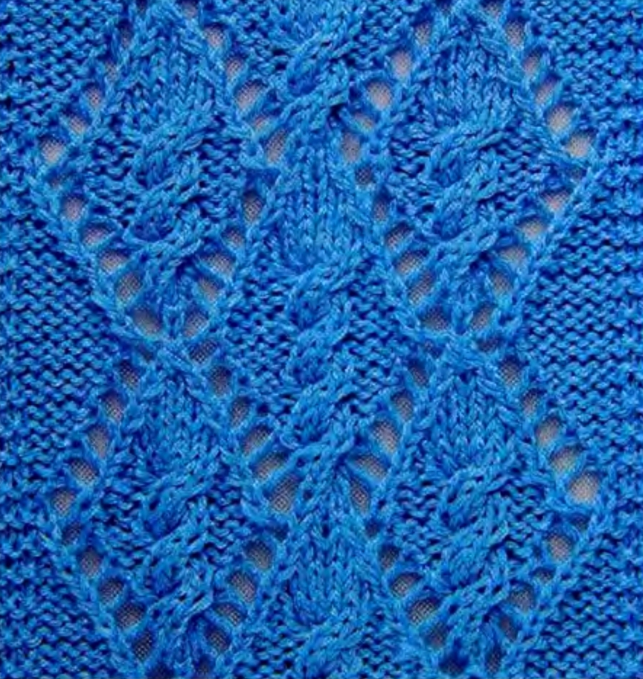 Cable Lace Knitting Stitches : Cable Within a Diamond Lace Knitting Stitch - Knitting Kingdom
