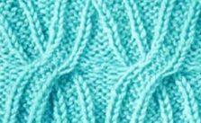 Cabled X Free Knit Stitch Chart