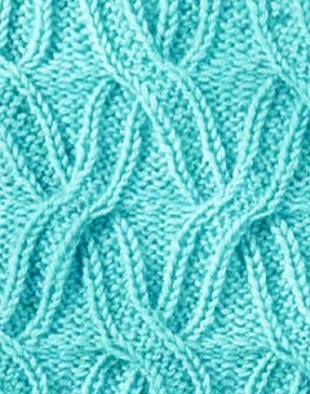 Cabled X Free Knit Stitch Chart