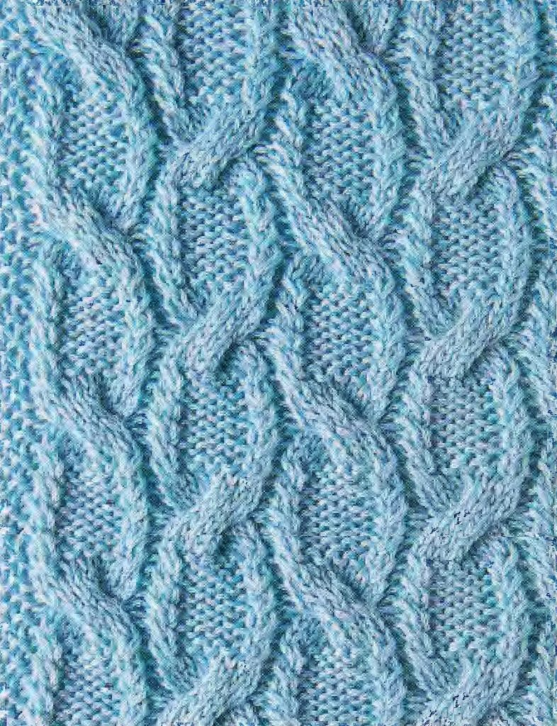 Chain Like Cable Knitting Stitch Free Chart