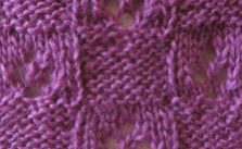 Checkered Lace Knitting Stitch