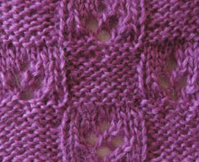 Checkered Lace Knitting Stitch