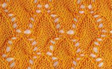 Diamond and Lace Cable Stitch Idea Chart