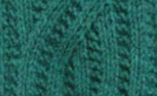 Flat Mock Cable Knitting Stitch