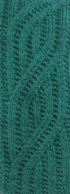 Flat Mock Cable Knitting Stitch