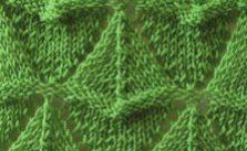 Green Triangles Lace Knit Stitch