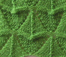 Green Triangles Lace Knit Stitch