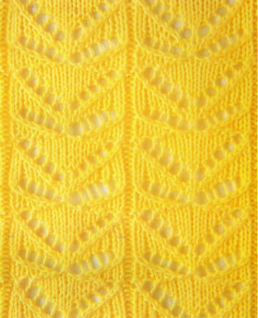 Lace Butterfly Knit Stitch Chart