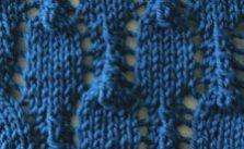 Lace Lozenges knit Stitch