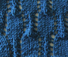 Lace Lozenges knit Stitch