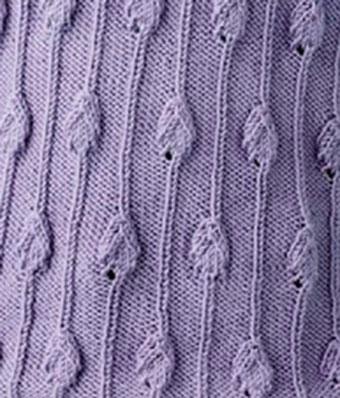 Leaf and Stem Knitting Stitch