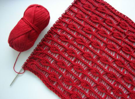 Openwork Tears Free Knitting Stitch