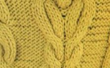Thick Braid Panel with Bobble