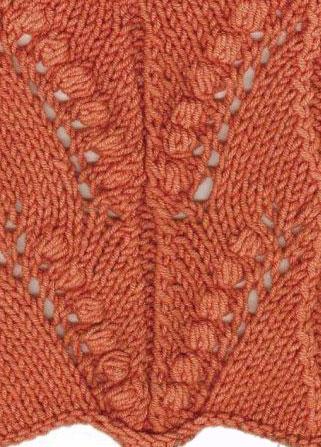 Bobble Lace Stitch Knitting