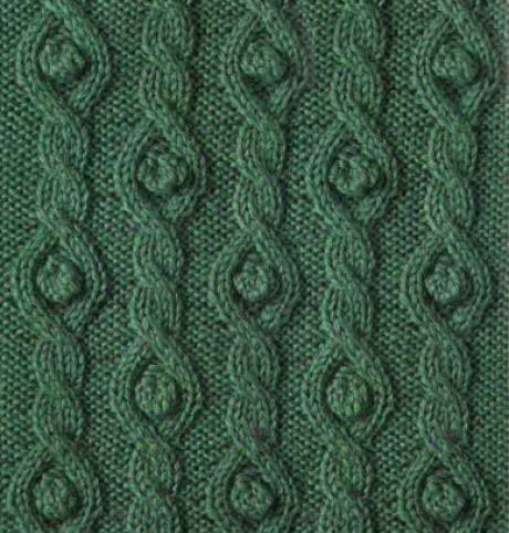 Cables and Bobbles Knit Stitch