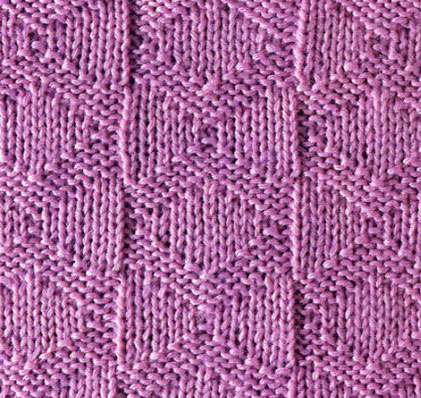 Diamond Knit Purl Stitch